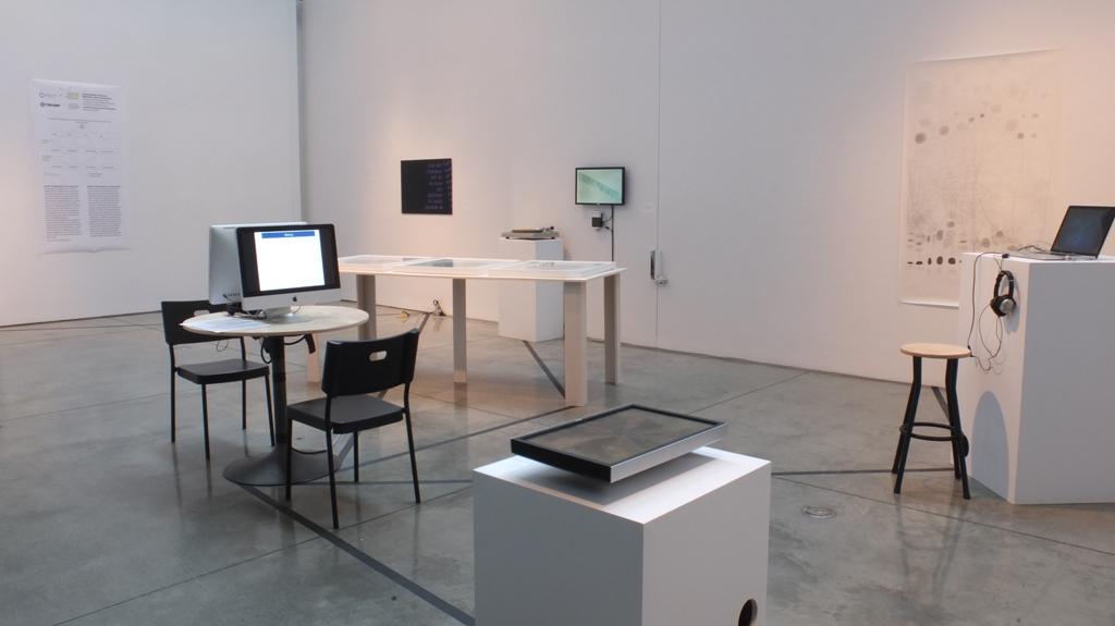 RAW DATA exhibit installation